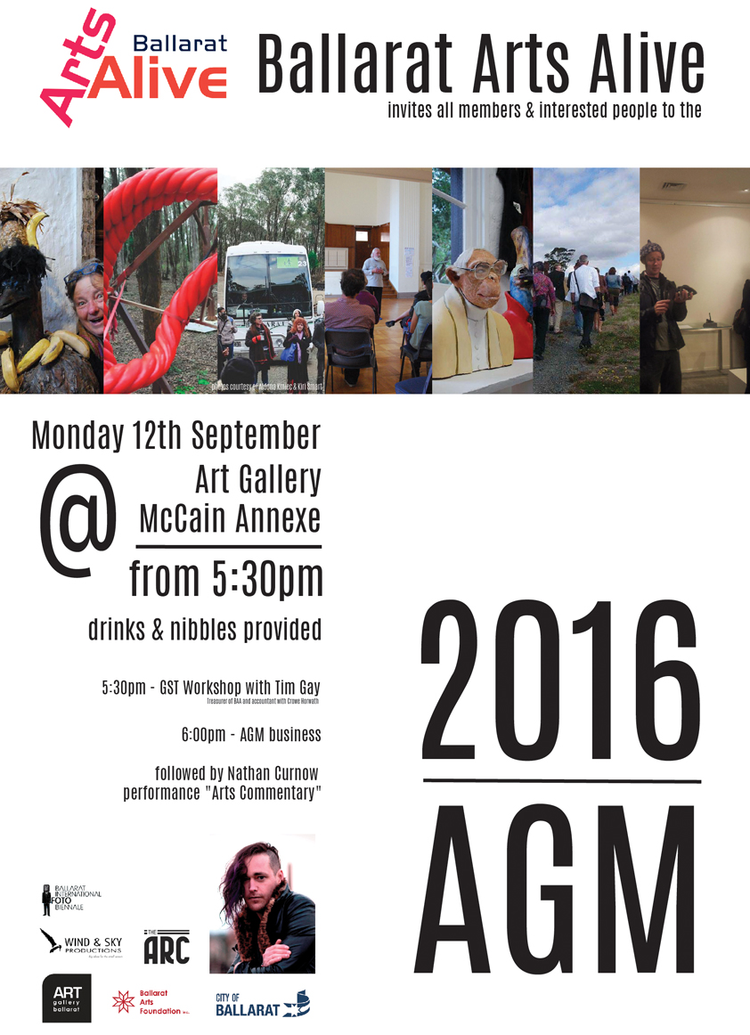 Ballarat Arts Alive AGM poster